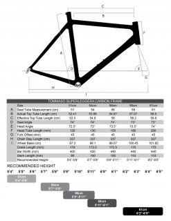 Tommaso Superleggera Road Bike Professional Carbon Black 56cm