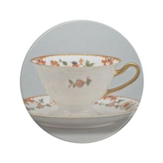 20th century tea cup and saucer, Bavaria, Germany Coasters