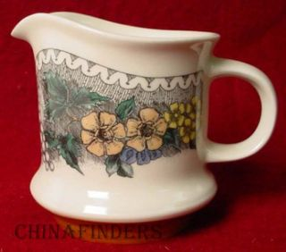 Goebel China Burgund pttrn Creamer Cream Pitcher Jug