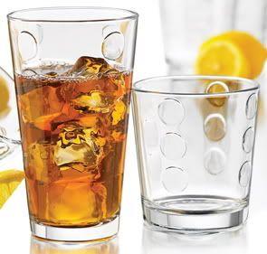 Libbey Reno 16 Piece Drinking Glass Set Rocks DOF Tumblers