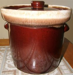 Vintage McCoy 1 Quart Brown Drip Casserole Crock 7014
