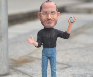 Great man Steve Jobs Apple Founder Statue Figure (iphone In hand) free