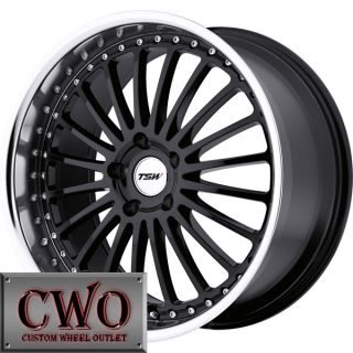 18 Black TSW Silverstone Wheels Rim 5x114 3 5 Lug Altima Eclipse Camry