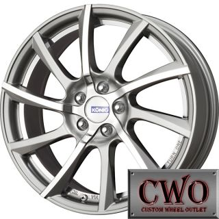 18 Silver Konig Turn One Wheels Rims 5x114 3 5 Lug Altima Camry Maxima