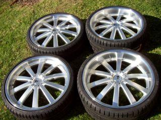 22 Ace Executive Wheels Silver Maserati Quattroporte Lip Staggered