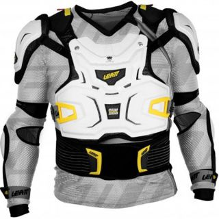 Leatt Adventure Body Protector Adult White Racing Body Armor