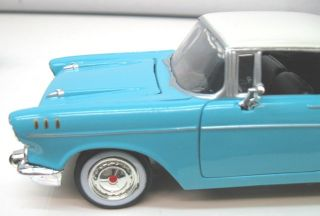 Welly 1957 Chevy Bel Air 2 Tone Baby Blue 1 24