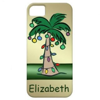 Personalized Tropical Christmas Palm Tree iPhone 5 Case