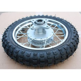 10 White Rear Rim Wheel Tire Honda XR50 CRF50 50cc 70cc 110cc Dirt