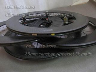 Carbon Wheelset with 3K Matte Finish Carbon Fiber Bike Wheels