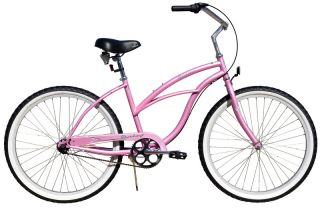 New 26 3 Speed Beach Cruiser Bicycle Bike Urban 3spd