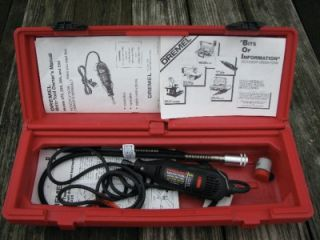 Dremel Moto Tool Model 395 Kit w/Case, Right Angle Head and Flex Shaft