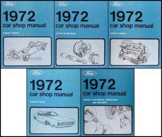 1972 Ranchero Gran Torino and Montego Shop Manual 72 Ford Mercury