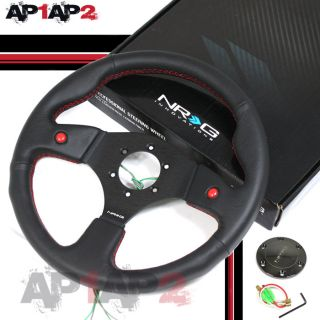 NRG 2 Horn Button Steering Wheel 320mm Real Leather A