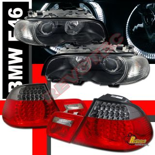 BMW E46 330ci 325ci COUPE HALO PROJECTOR HEADLIGHTS CORNER & LED TAIL