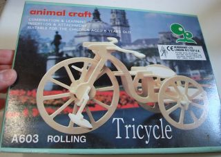 Wooden Bicycle Tricycle Model Toy Great Gift Idea
