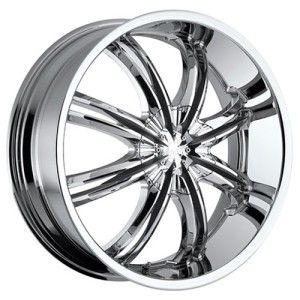 22 inch Voodoo 415 Chrome Wheel Rim 5x4 5 Patriot Compass Liberty