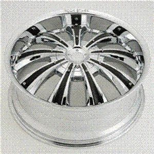 22 Wheels Chrome Black Rims Pkg 5 x 20 Rockstarr 411