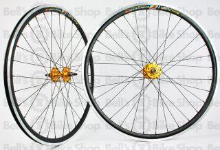 Weinmann Deep V DP18 Track Wheels Black Gold Fixed Gear