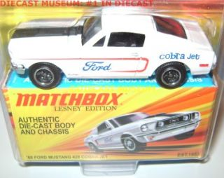 1968 68 Ford Mustang 428 Cobra Jet Lesney Matchbox