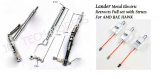Lander Metal Electric Retracts Full Set with Struts for AMD BAe Hawk