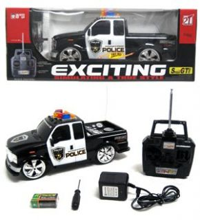 Features of Police Ford F 250 Lights and Music RTR Electric RC Truck