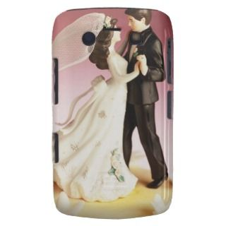 Bride and Groom Wedding Cake Figurines Blackberry Bold Case