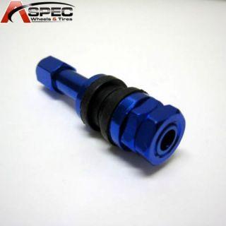 Blue Aluminum Valve Stems Kit Varrstoen Rim Wheels