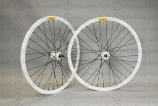 Velocity Deep V Track Wheels White Black Fixed Gear
