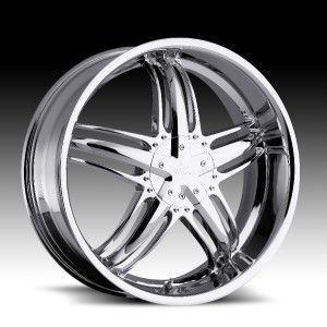 18 inch Milanni Force Chrome Wheels 5x4 25 5x108 38