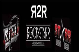 22 Wheels Chrome Black Rims Pkg 5 x 20 Rockstarr 411