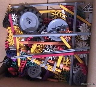 Mixed Lot KNEX KNEX Building Toy Rods Wheels Connector
