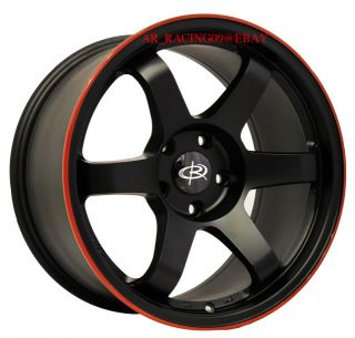 17 Rota Wheels 17x9 Grid BK Red G35 G37 370Z EVO 8 9 X