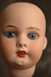 Gorgeous Antique French Bisque Doll Head Marked 9