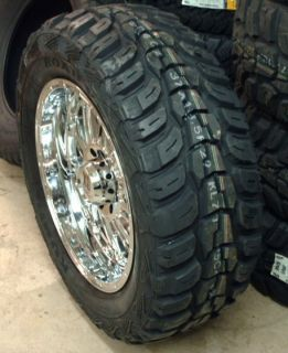 22 Chrome XD Hoss Wheels Kumho MT 37x13 5x22 Tires