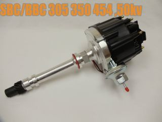 SBC BBC Chevy 305 350 454 V8s Hei Coil Distributor w Black Cap 50K 50