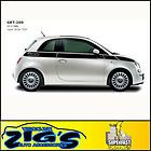 Vinyl graphic decal For 2012 2013 Fiat 500 Upper Stripe Graphics