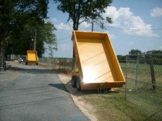 10 7K 2012 Dump Trailer Power Lift Deckover Dump Trailer Power Up
