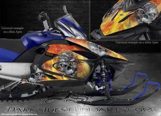 Yamaha Apex 2006 2010 Snowmobile Graphics Kit Machinehead Fire