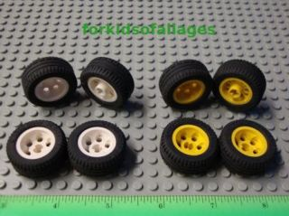 Lego Technic 8 Wheels Balloon Tires 30.4 x 14 VR   Sets w Rims/Hubs
