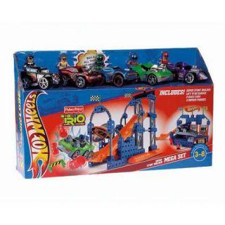 Fisher Price Trio Hot Wheels Super Stunt Builder Mega Playset