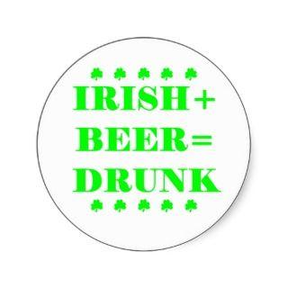 Funny Irish St. Patricks Day Beer Sticker