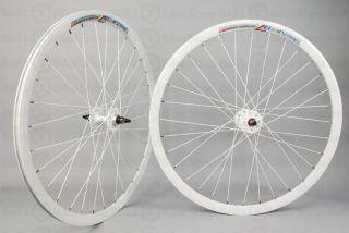 Weinmann Deep V DP18 Track Wheels All White Fixed Gear
