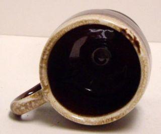 Vintage McCoy Glazed Brown Drip Pedestal Coffee Tea Mug Cup 7075 USA