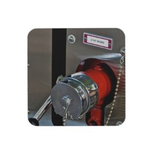 Fire Truck Water Intake Photograph Drink Coaster
