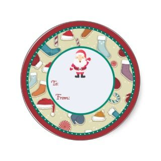 Round Christmas gift tag Sticker