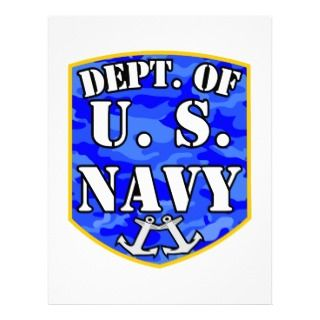 Department of the United States Navy Letterhead Template