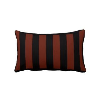 Black and Red Stripe Lumbar Pillow