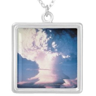 Atomic bomb test blast mushroom cloud rising custom necklace