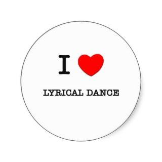 Love Lyrical dance Round Sticker